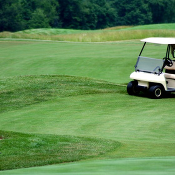 Golf courses in Irving and the Dallas area are marked by rolling fairways.
