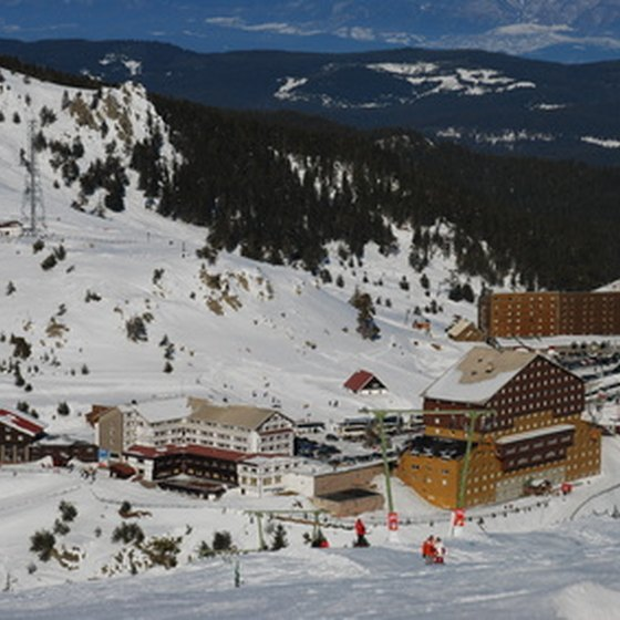Enjoy snowy mountains and big skies at a Montana resort.