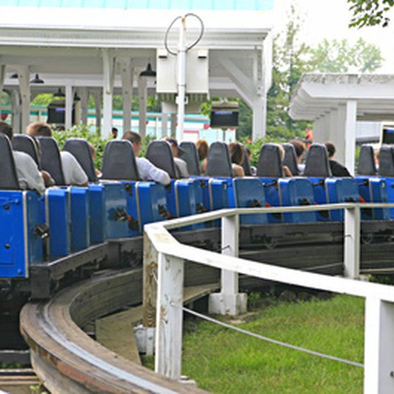 Roller coasters are among the specialties at Six Flags Over Georgia.