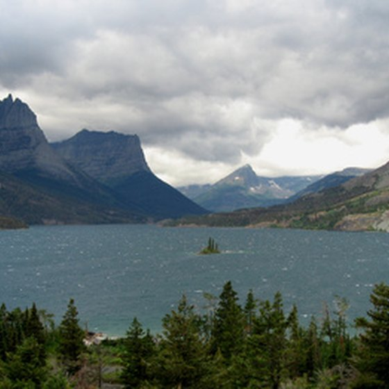 Glacier National Park is home to many Rocky Mountain lakes.