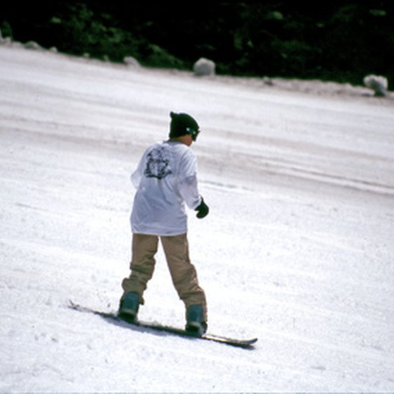 North Carolina's mountains provide opportunities for skiing and snowboarding.