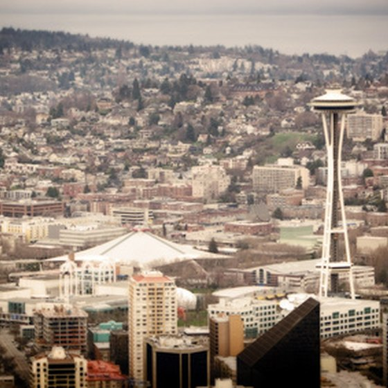 The Seattle Space Needle Overlooks Several Top Rated Restaurants.