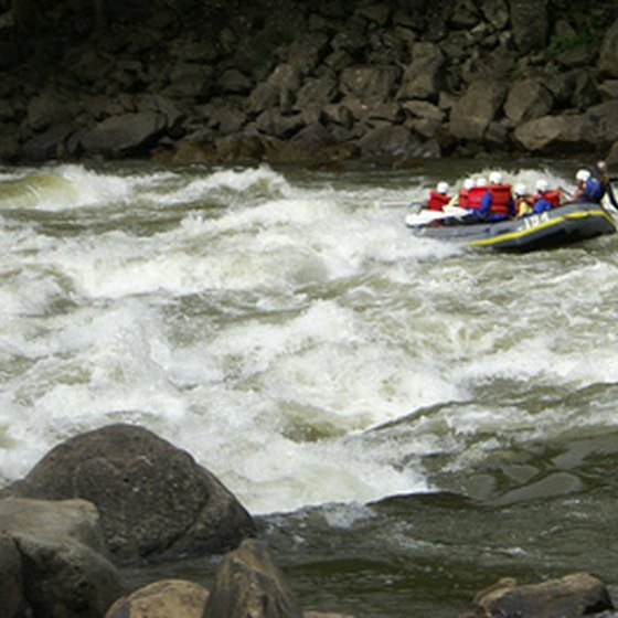 Colorado is an ideal place for outdoor activities, such as whitewater rafting.