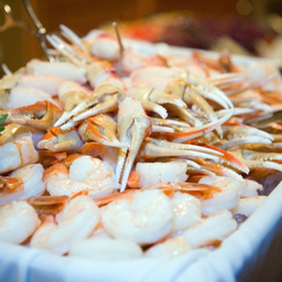 Several buffets offer all-you-can-eat seafood.