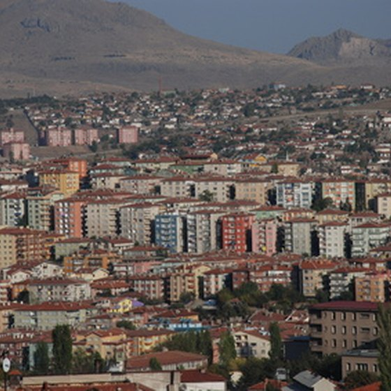 The city of Ankara is straddled with high mountains.