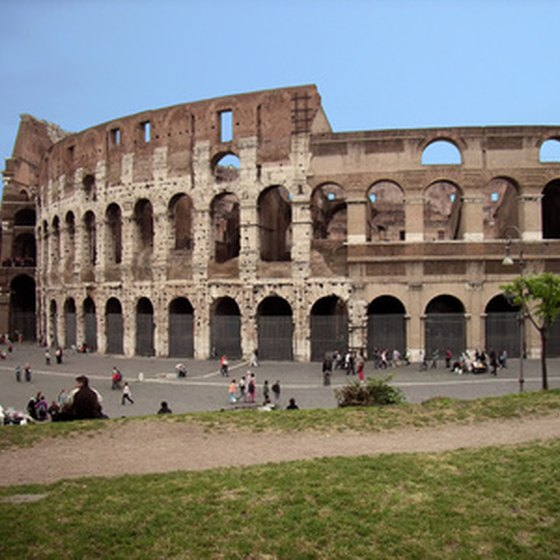 The ancient Colosseum is a must-see stop in Italy's capital city.