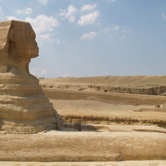 Visitors can see many sphinxes in Egypt but only one Great Sphinx.