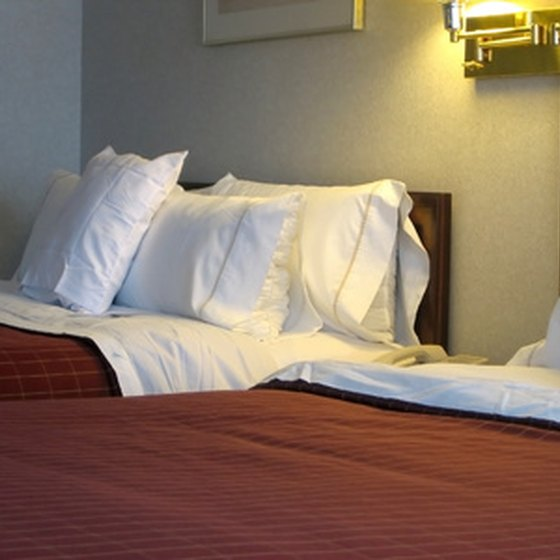 Travelers visiting Madisonville can stay at a local hotel.