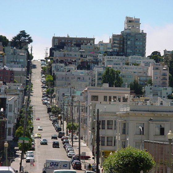 The famed steep streets of San Francisco