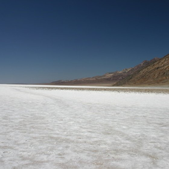 The desolate salt pans of Death Valley.