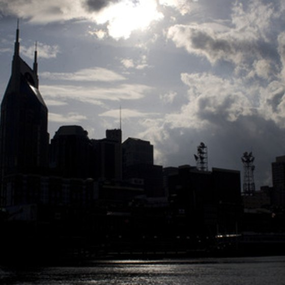 Nashville skyline from the Cumberland River