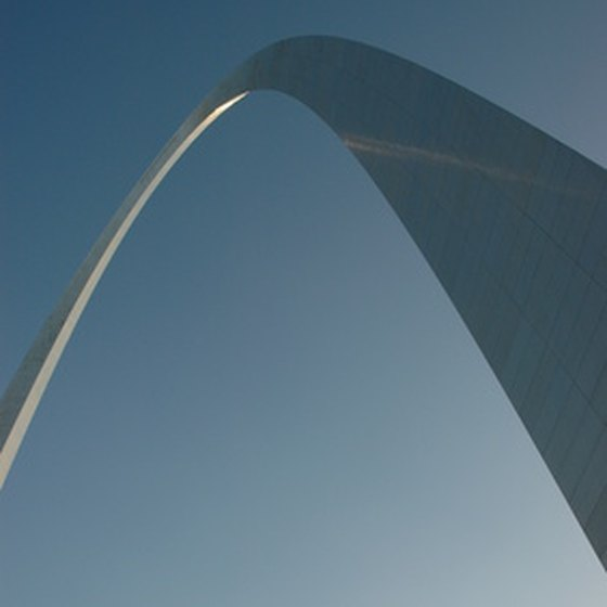The Gateway Arch in St. Louis is one of many attractions the city offers.