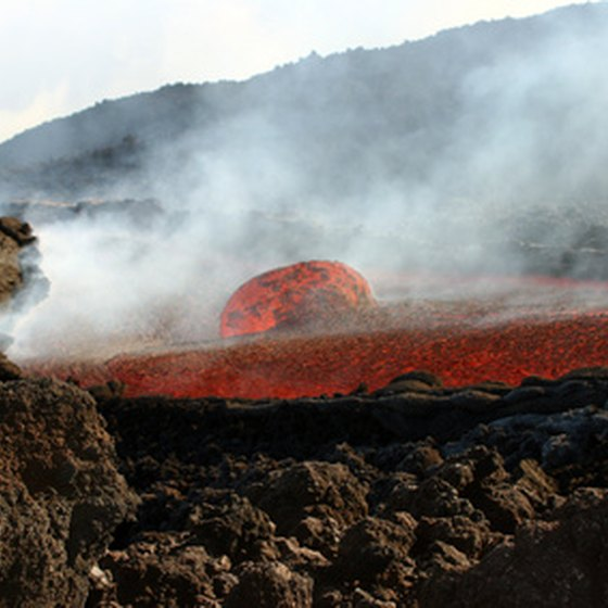 Sicily's Mount Etna is one of the most active volcanoes in the world.