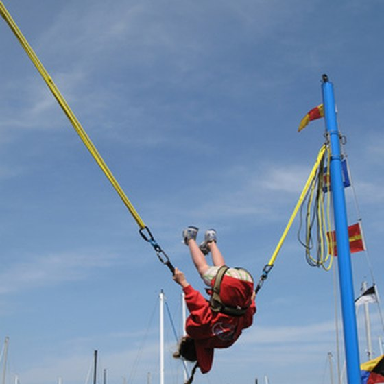Bungee jumping in Florida takes on many different forms.