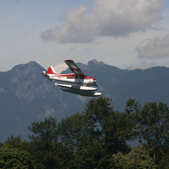Seaplanes are common forms of transportation in Alaska