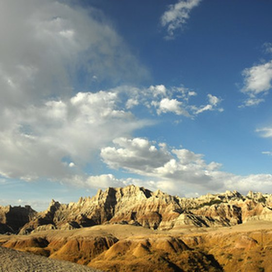 Badlands National Park experiences extreme temperatures.