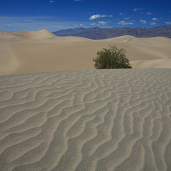 Death Valley is hot and dry.