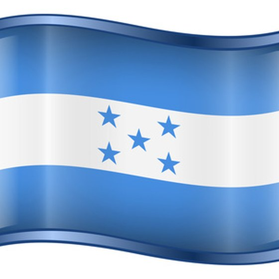 The flag of Honduras