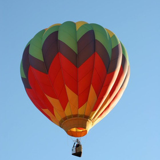 Hot-air ballooning is popular.
