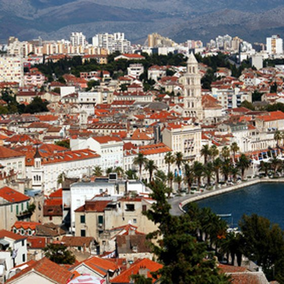 Split, Croatia, is an Adriatic port known for its diverse history.