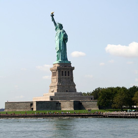 Cruises departing New York are rewarded with a spectacular view of the Statue of Liberty.