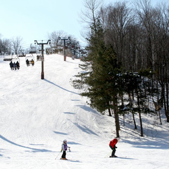 Ski resorts abound near Benton Harbor, Michigan.