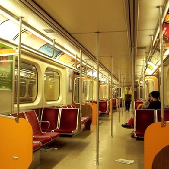 Most people get around by subway in New York City