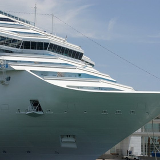Mediterranean cruises depart from Rome's port with regularity.