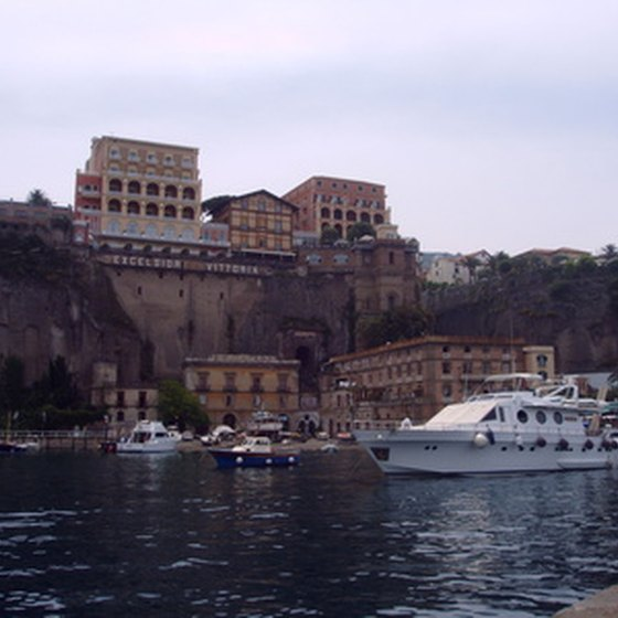 View of Sorrento from the sea