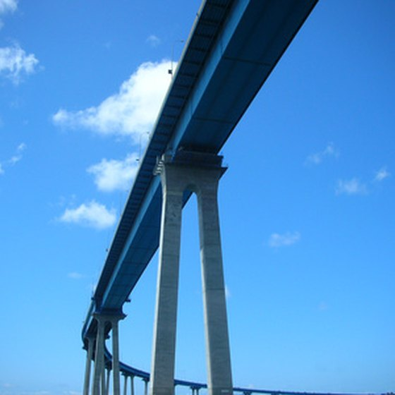 The soaring San Diego-Coronado Bridge is a dramatic start for any tour.