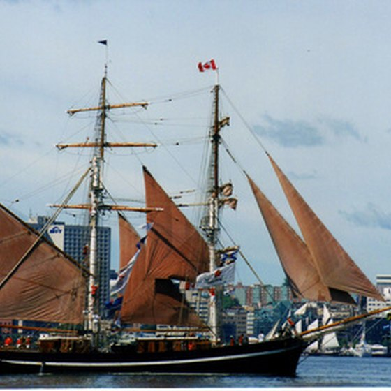 Halifax Harbor is known for its tall ships.