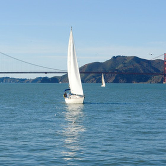 San Francisco Bay cruises offer striking views of Fisherman's Wharf and the Golden Gate Bridge.