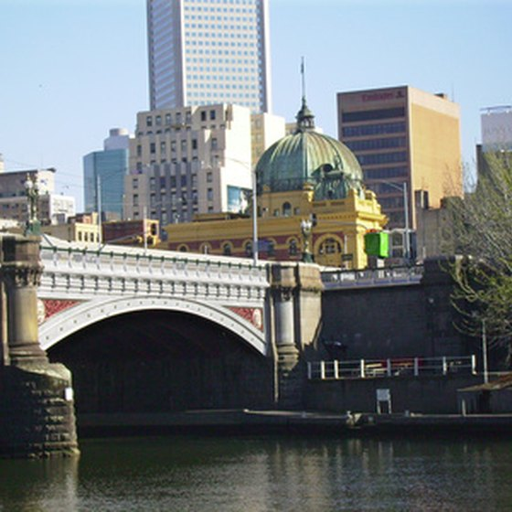 Melbourne, Australia, is located on the Yarra River.