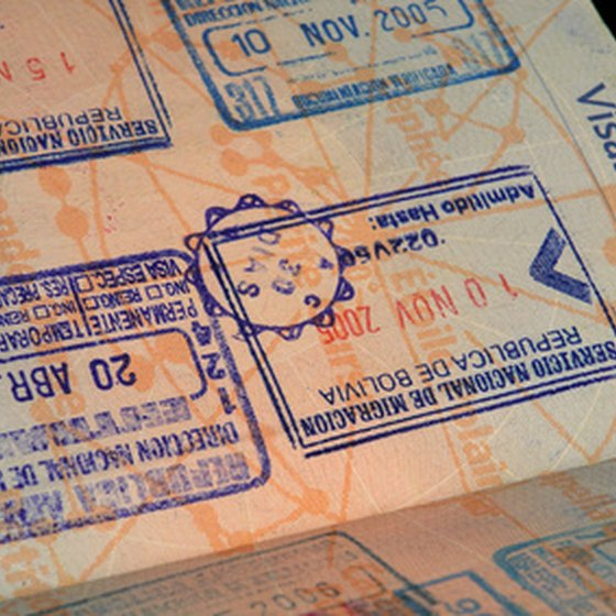 A visa is a stamp or sticker placed in your passport.