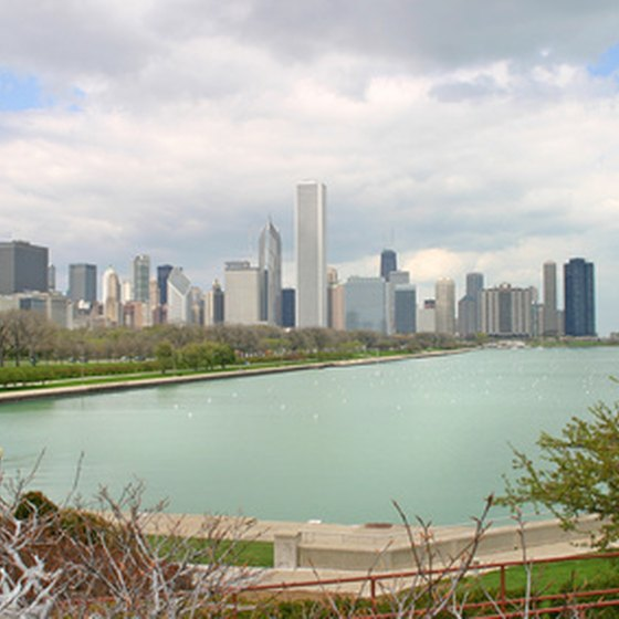Chicago, Illinois sits on the shore of Lake Michigan.