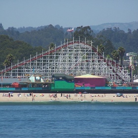 The Santa Cruz Boardwalk draws tourists to the city.