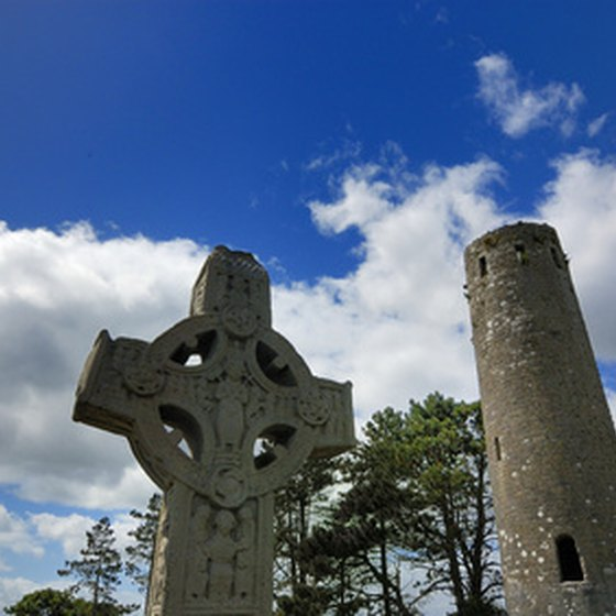 Historic churches and ruins dot the landscape of Ireland.