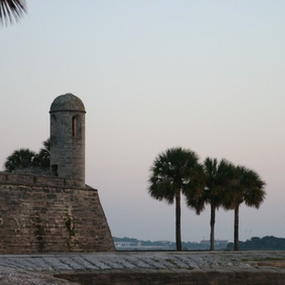 Castillo de San Marcos in St. Augustine. The former Spanish fort is now a National Monument.