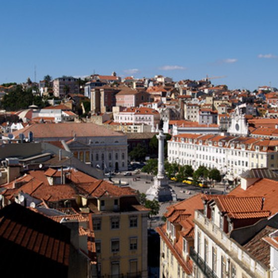The red rooftops of Lisbon.