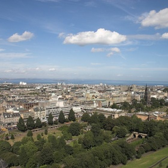 Skyline of historic Edinburgh, Scotland
