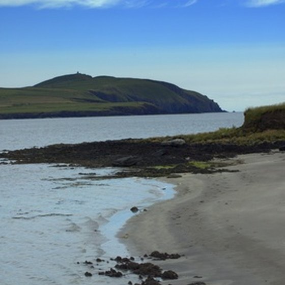 Visit the Ring of Kerry for beaches and mountain views.