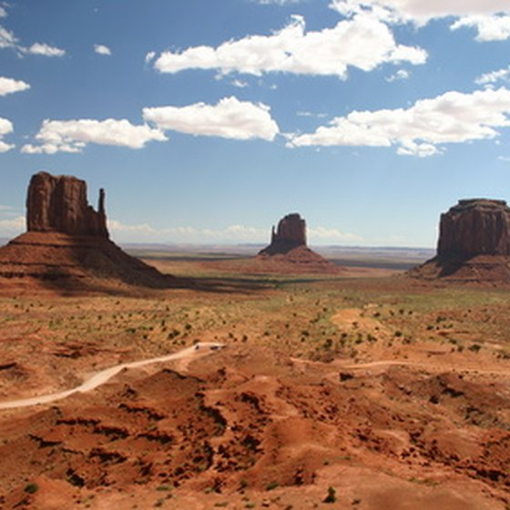 From Monument Valley's 17-mile road, visitors can see the park's sandstone monoliths.