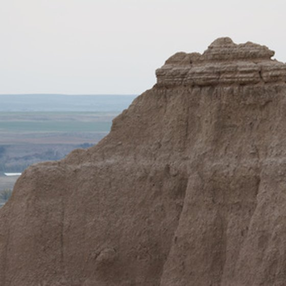 Badlands National Park in South Dakota features wildlife and opportunities for recreation.