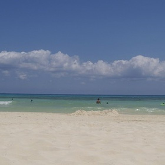 The white sands of Playa del Carmen attract millions of sunshine hungry tourists.