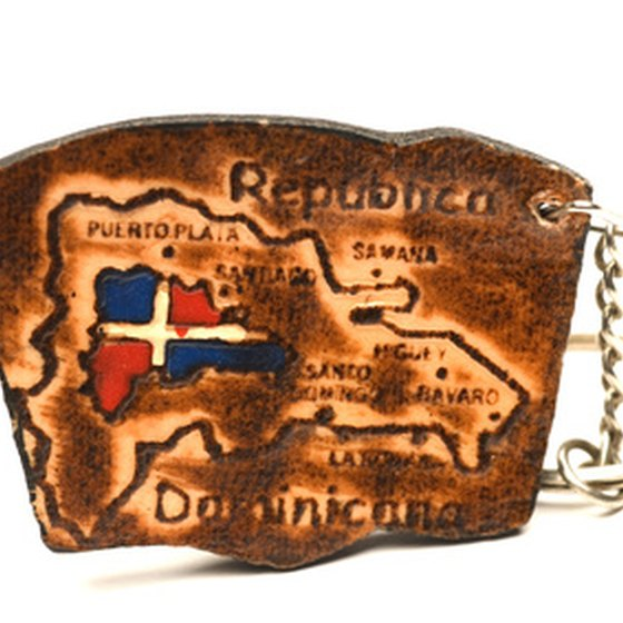 Dominican Republic keychain-map.