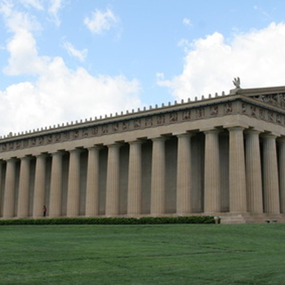 Nashville's Parthenon is easy to reach from I-65.