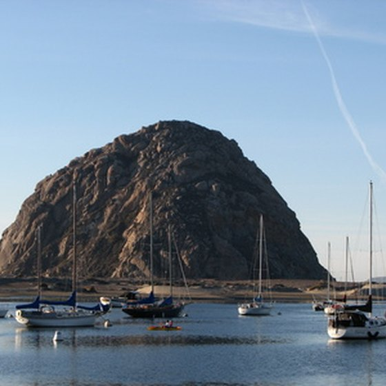 RV campers in Morro Bay have a good view of the Morro Bay Rock