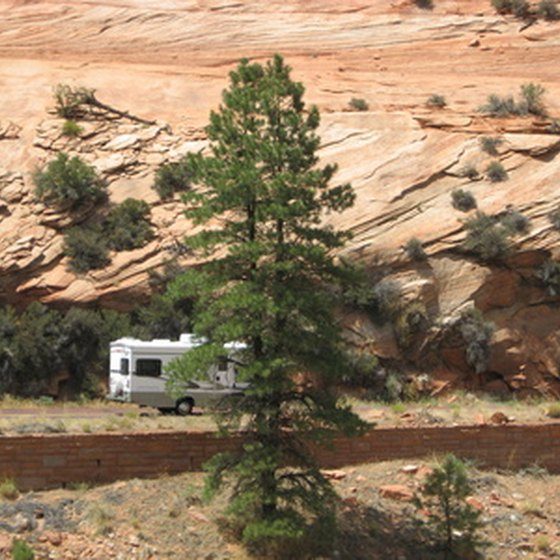 RV travel and accommodation is popular in the desert Southwest.