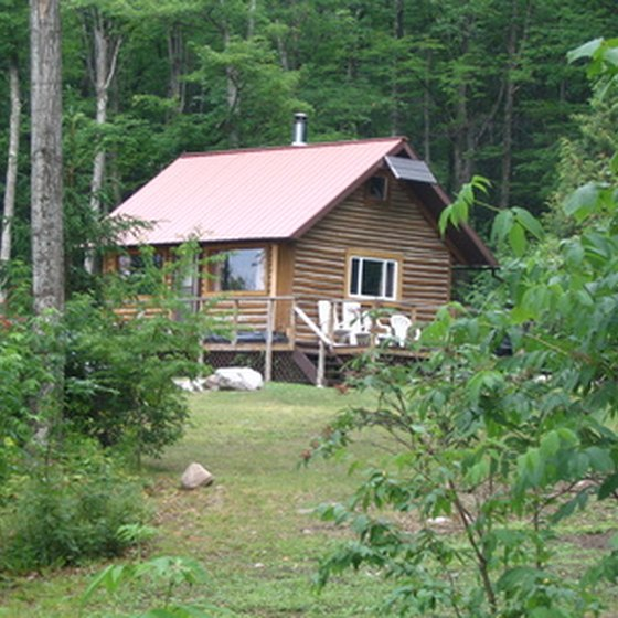 Secluded cabins make a perfect vacation getaway.