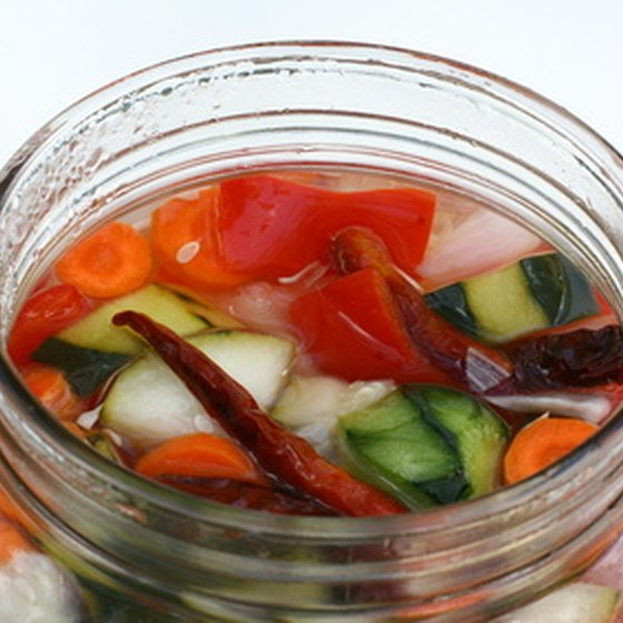 Kimchi is a ubiquitous North Korean dish made of pickled vegetables.